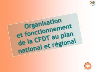 Organisation  et fonctionnement  de la CFDT au plan national et régional