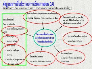 ผังบูรณาการสื่อประกอบการเรียนการสอน  CAI