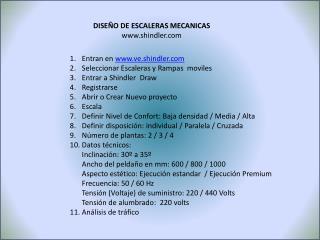 DISEÑO DE ESCALERAS MECANICAS shindler