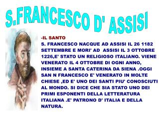 S.FRANCESCO D' ASSISI