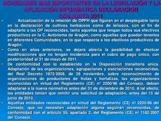 NUEVA LEGISLACION RECONOCIMIENTO ORGANIZACIONES DE PRODUCTORES  FRUTAS Y HORTALIZAS
