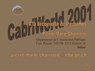 CabriWorld 2001