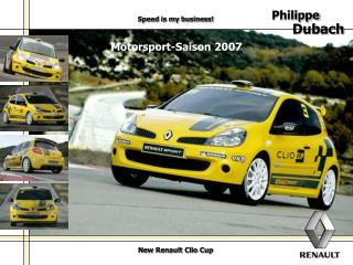 New Renault Clio Cup