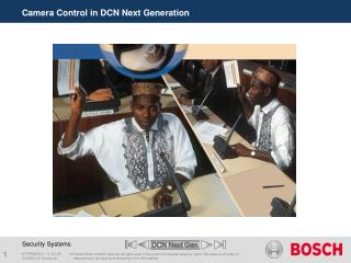 Camera Control in DCN Next Generation