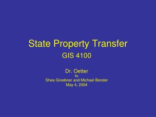 State Property Transfer