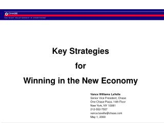 Key Strategies for Winning in the New Economy