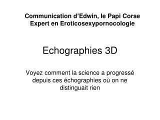 Echographies 3D