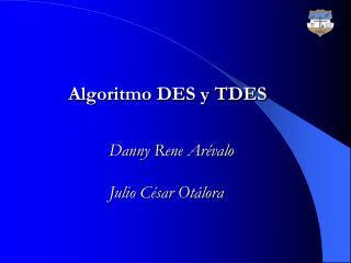 Algoritmo DES y TDES