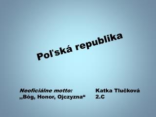 Poľská republika