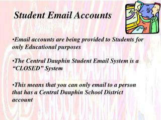 Student Email Accounts