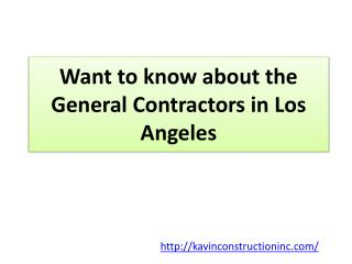 General Contractor Residential Los Angeles