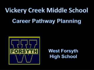 Vickery Creek  Middle School Career Pathway Planning