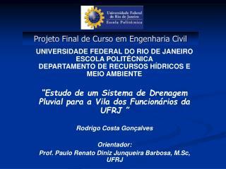 Projeto Final de Curso em Engenharia Civil
