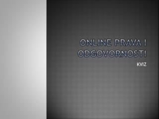Online  prava i odgovornosti