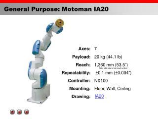 General Purpose: Motoman IA20