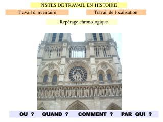 PISTES DE TRAVAIL EN HISTOIRE