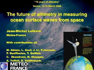 The future of altimetry in measuring ocean surface waves from space