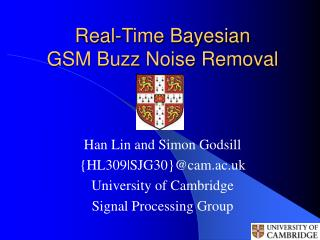 Real-Time Bayesian  GSM Buzz Noise Removal