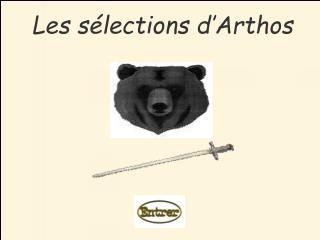 Les sélections d'Arthos