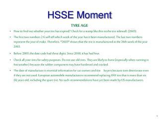 HSSE Moment