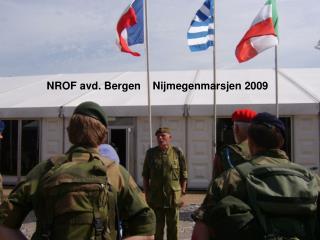 NROF avd. Bergen    Nijmegenmarsjen 2009