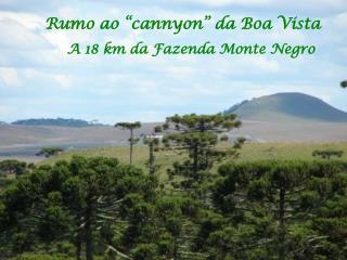 """Rumo ao """"cannyon"""" da Boa Vista"""