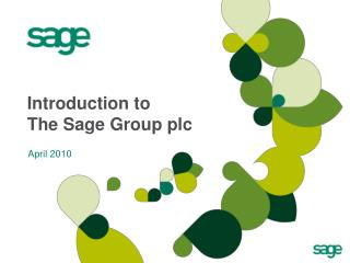 Introduction to The Sage Group plc