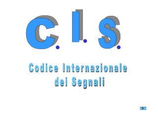 Codice Internazionale  dei Segnali