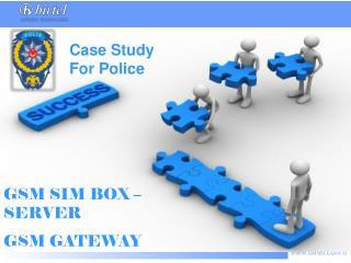 GSM SIM BOX –SERVER GSM GATEWAY