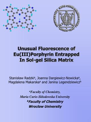 Unusual Fluorescence of Eu(III)Porphyrin Entrapped In Sol-gel Silica Matrix