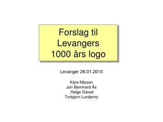 Forslag til Levangers 1000 �rs logo