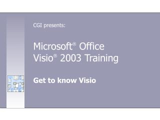 Microsoft  Office  Visio  2003 Training