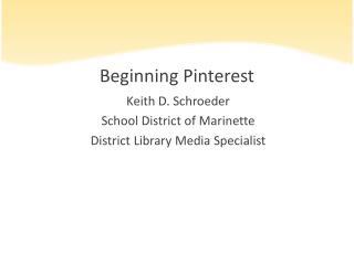 Beginning Pinterest