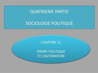 QUATRIEME  PARTIE SOCIOLOGIE POLITIQUE