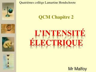 QCM Chapitre 2