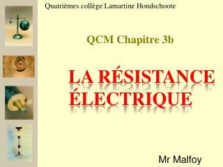 QCM Chapitre 3b