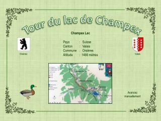 Tour du lac de  Champex