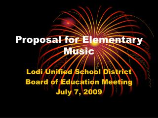 Proposal for Elementary Music