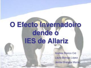 O Efecto Invernadoiro dende o  IES de Allariz
