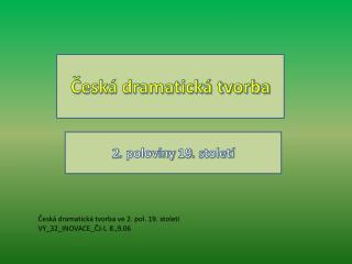 Česká dramatická tvorba