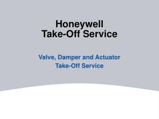 Honeywell  Take-Off Service