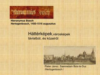 Pieter Jansz. Saenredam Bois-le-Duc  /Hertogenbosch /