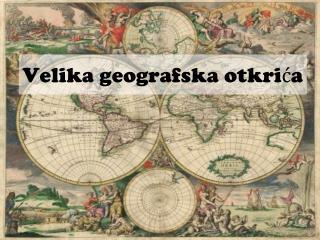 Velika geografska otkrića