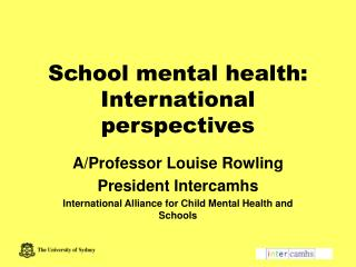 School mental health: International perspectives