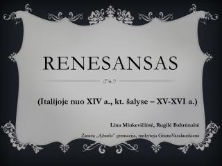 Renesansas