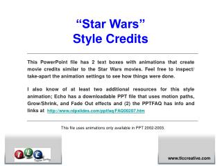 """Star Wars""  Style Credits"
