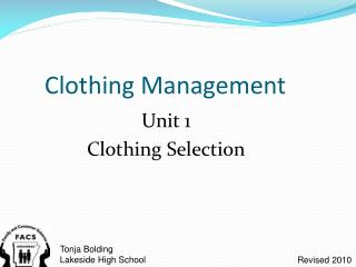 Clothing Management