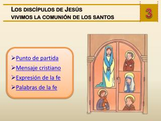 Punto de partida Mensaje cristiano Expresión de la fe Palabras de la fe