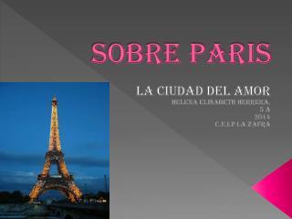 SOBRE PARIS