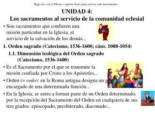 UNIDAD 4: Los sacramentos al servicio de la comunidad eclesial